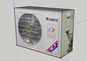 格力空调外机的SU(草图大师)模型设计