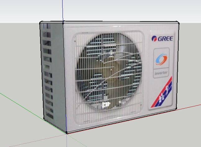 33-格力空调外机的SU模型设计(2)