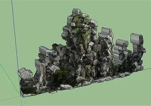 太湖石假山SU(草图大师)模型
