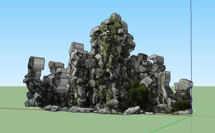 38--太湖石假山SU模型(2)