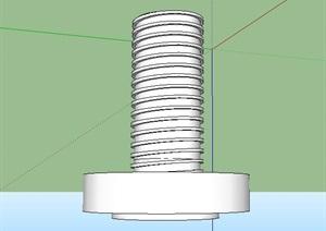 螺丝钉的SU(草图大师)模型设计