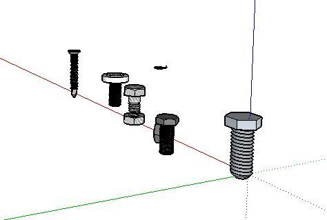 40-螺母螺丝螺帽SU模型集锦(2)