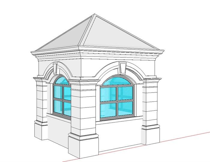 岗亭模型素材(2)
