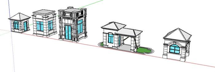 岗亭模型素材(3)