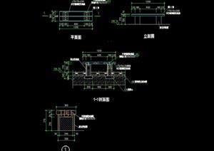 园林景观园凳详细设计cad施工图