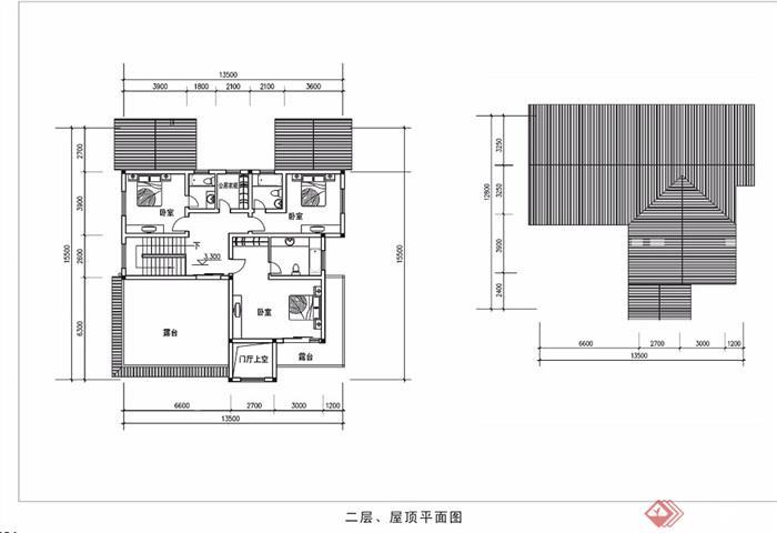 多层详细的中式别墅建筑设计jpg方案及效果图