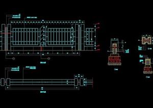 详细的铁艺栏杆素材cad施工图