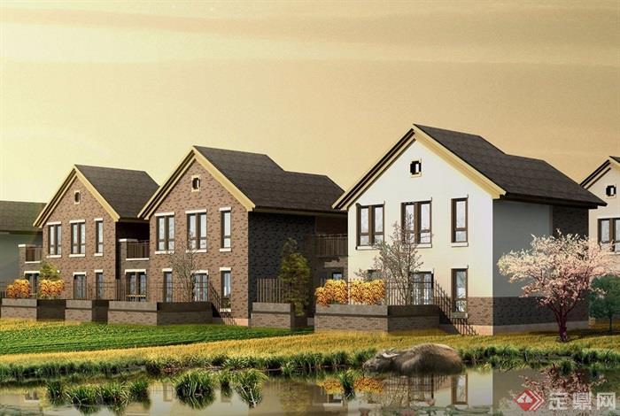 中式详细的两层别墅设计jpg方案及效果图