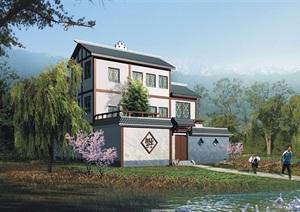 三層詳細的整體別墅設計jpg方案