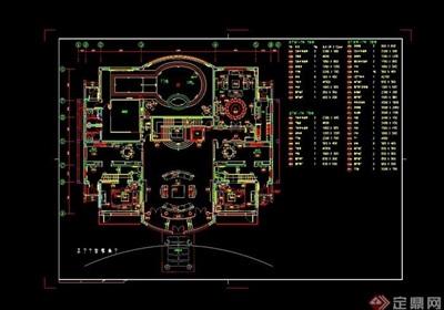 某豪華別墅裝修設計cad方案圖