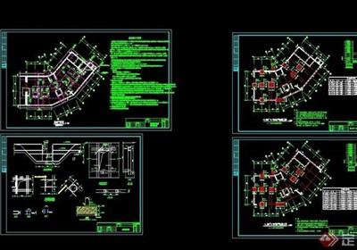 某別墅建筑結構施工設計cad全套圖
