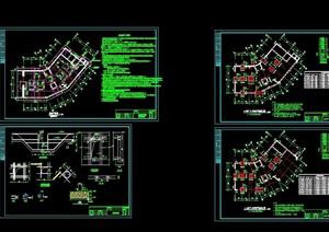 某别墅建筑结构施工设计cad全套图