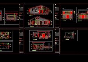 某详细的住宅D型別墅装饰设计cad施工图