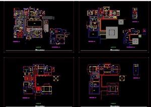 某详细的别墅空间装饰设计cad施工图