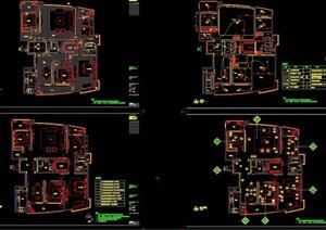 详细的别墅室内装饰空间设计cad施工图