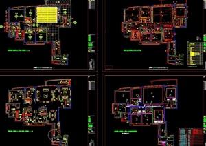 某详细的完整样板房装饰设计cad施工图