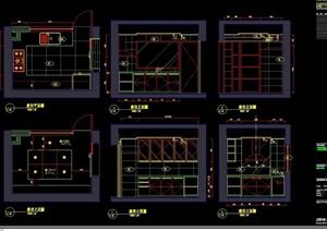 某详细的完整别墅室内空间装饰设计cad施工图