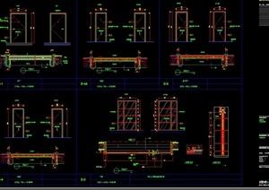 某详细的完整别墅空间装饰设计cad施工图