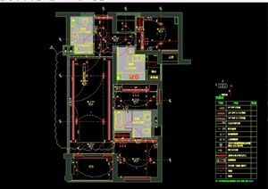 详细的完整别墅室内空间装饰设计cad施工图