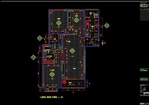 详细的整体完整别墅空间装饰cad施工图