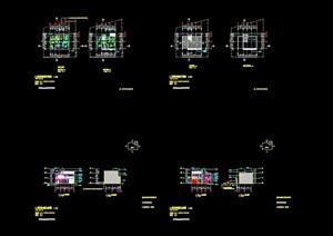 几套现代别墅装修设计cad施工图