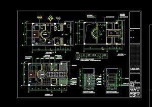 国际富豪别墅区装修设计cad施工图