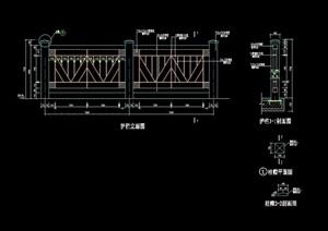 详细的完整栏杆素材设计cad施工图