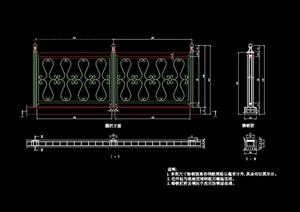 欧式风格详细的栏杆cad施工图