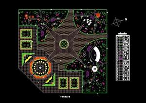 某详细的广场种植设计cad方案
