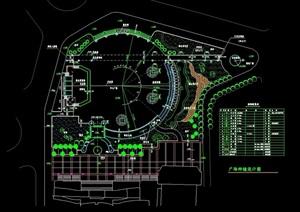详细广场种植设计cad方案