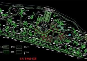 现代广场种植设计cad方案