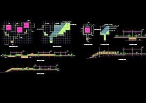 详细的观景平台cad方案