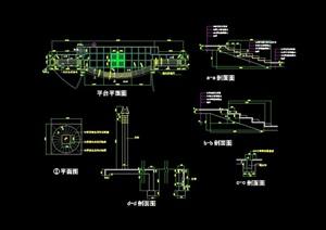 详细的整体平台cad施工图