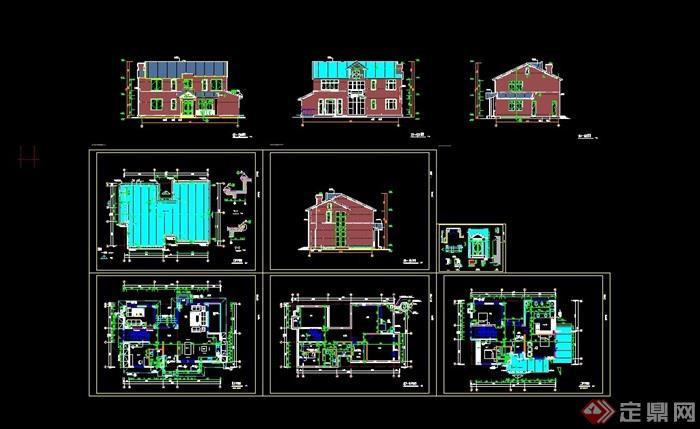 某详细完整的别墅v别墅cad别墅建好的方案何时流水图片