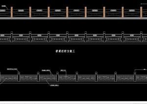 多种桥梁栏杆cad方案