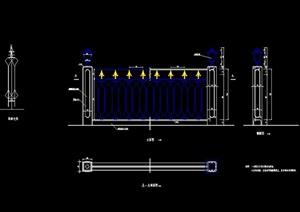 欧式详细的栏杆设计cad方案
