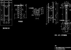 详细的独特栏杆设计cad方案