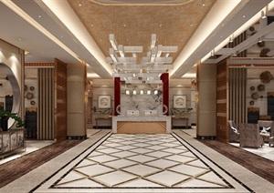 某详细的酒店室内空间装饰设计jpg效果图