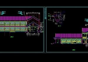 中式四合院式办公楼CAD建筑图