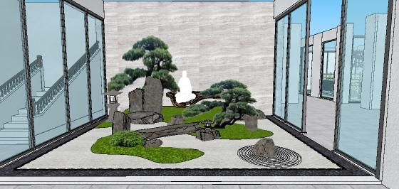日式中庭院落花园景观设计(1)