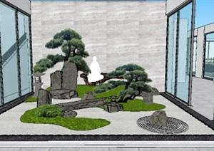 日式中庭院落花园景观设计