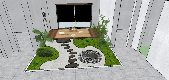 日式中庭院落花园景观设计(2)