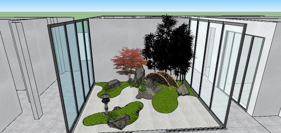 日式中庭院落花园景观设计(3)