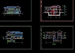 日式别墅建筑cad方案图