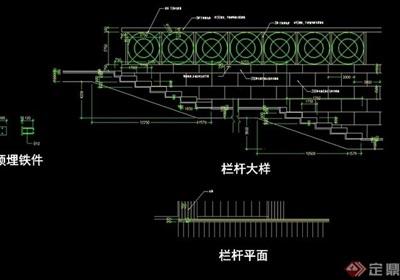 鐵藝欄桿設計cad方案