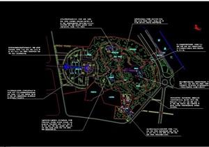 公园种植设计cad方案