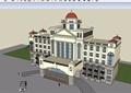 歐式會所詳細完整多層建筑設計su模型