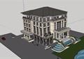 歐式會所整體詳細的完整多層設計su模型