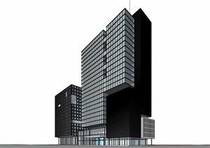 现代多层商业综合体设计SU(草图大师)模型