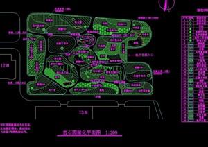 详细的游园绿化景观设计cad方案